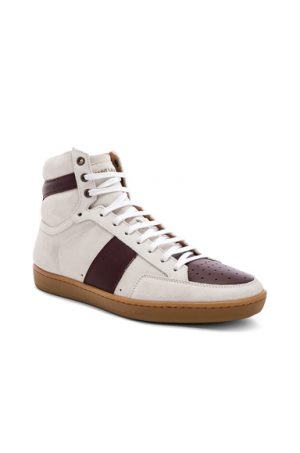 Saint Laurent SL/10H Hi-Top Sneakers in White,Red. - size 43 (also in 41,42)