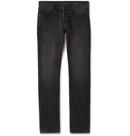 Saint Laurent - Slim-Fit 17cm Hem Denim Jeans - Black