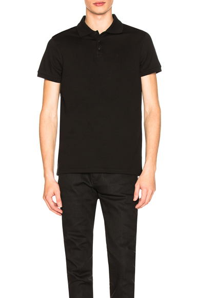 Saint Laurent Sport Polo in Black. - size XL (also in S,M,L)
