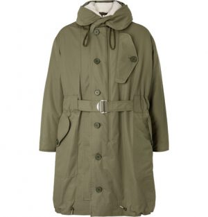 Sandro - Shearling-Trimmed Cotton-Canvas Hooded Parka - Men - Green