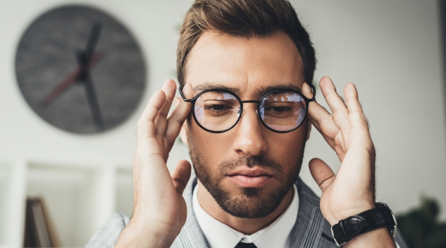 Stylish Businessman in Glasses