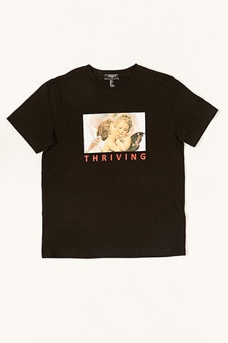 Thriving Graphic Tee by 21 MEN Black/red