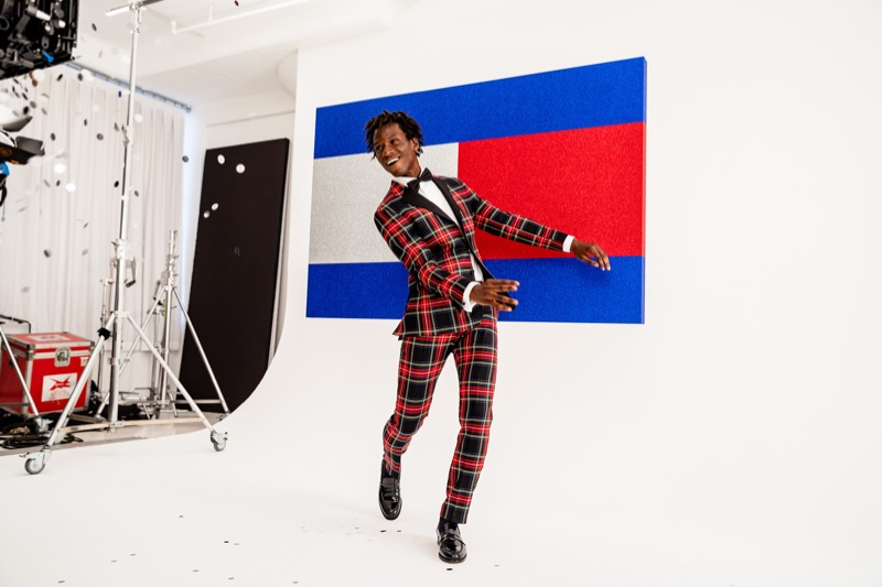 Showing off his best dance moves, Adonis Bosso fronts Tommy Hilfiger's holiday 2018 campaign.
