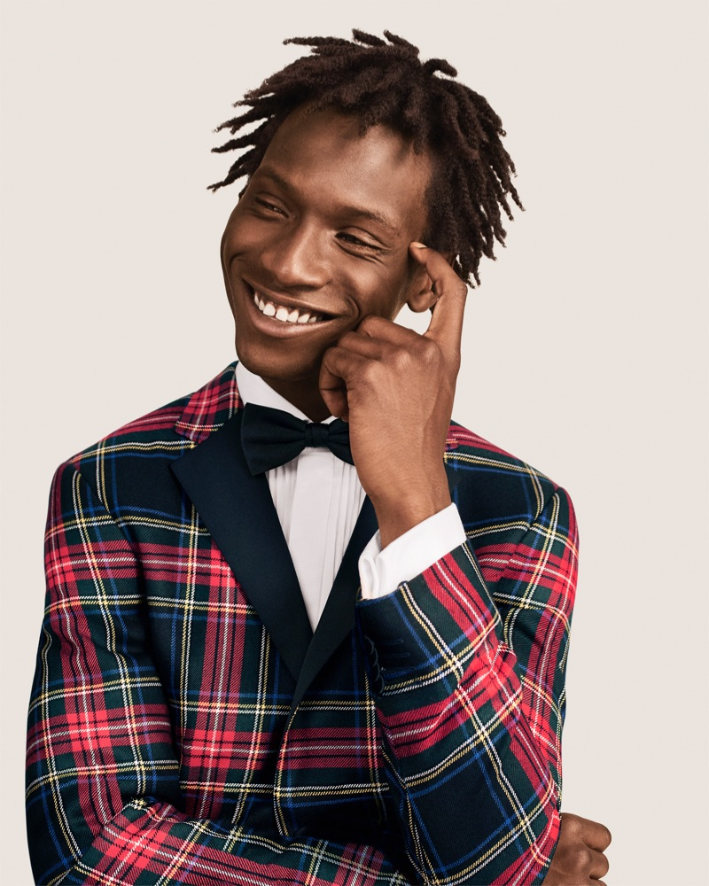 All smiles, Adonis Bosso stars in Tommy Hilfiger's holiday 2018 campaign.