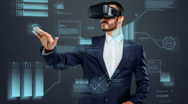 Virtual Reality Picture - Man in Suit Wearing Glasses