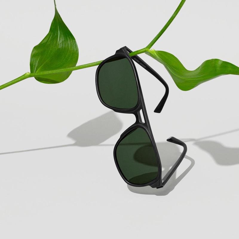 Warby Parker Hatcher Sunglasses in Jet Black Matte