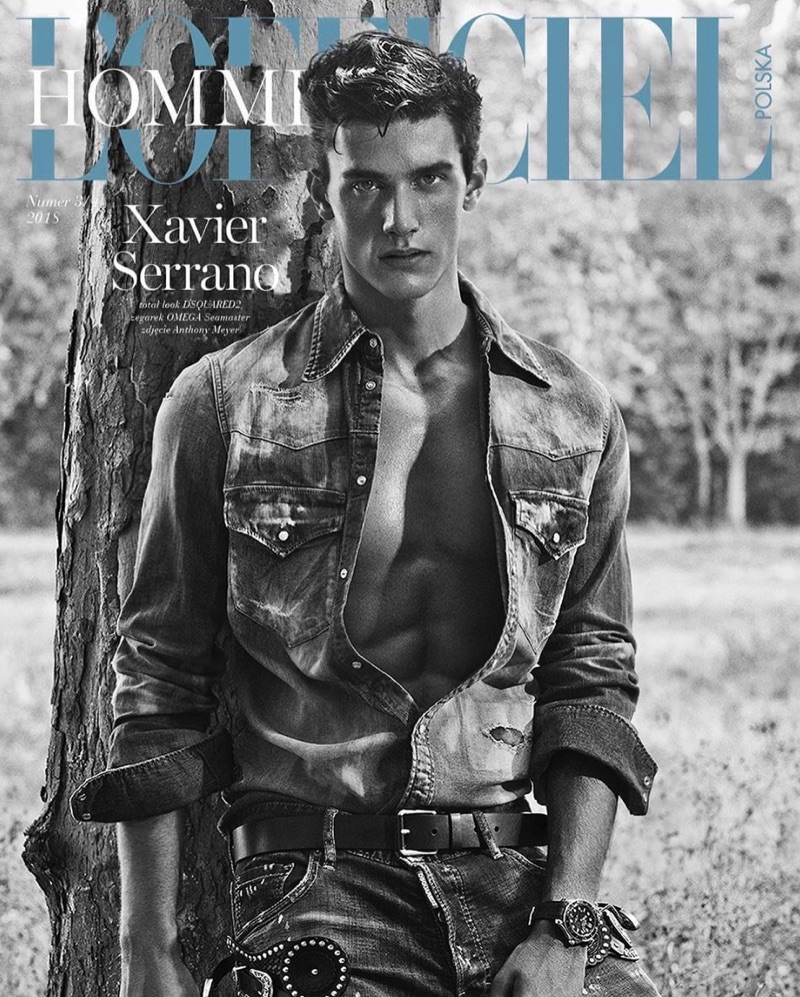 Xavier Serrano Covers L'Officiel Hommes Poland, Stars in Cheeky Story