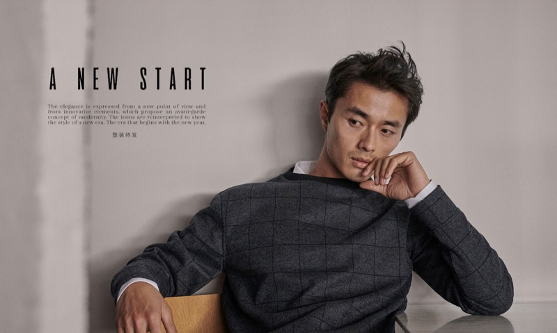 Zhao Lei stars in an editorial for Massimo Dutti.