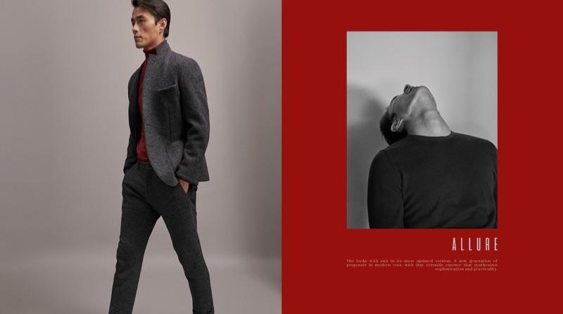 Embracing smart style, Zhao Lei wears Massimo Dutti.