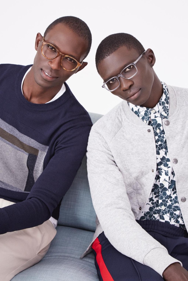 Brothers Armando and Fernando Cabral don Warby Parker glasses. Pictured left, Armando wears Butler glasses. Right: Fernando sports Wilkie glasses.