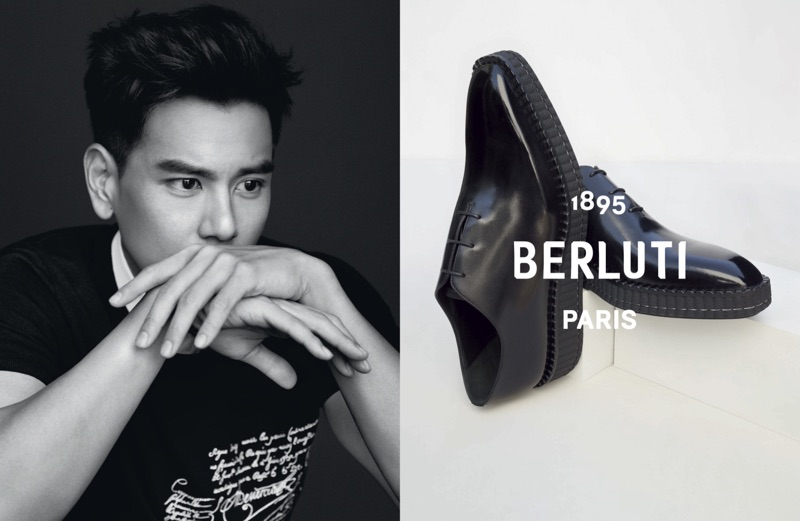 Berluti enlists Eddie Peng as the star of its spring-summer 2019 campaign.