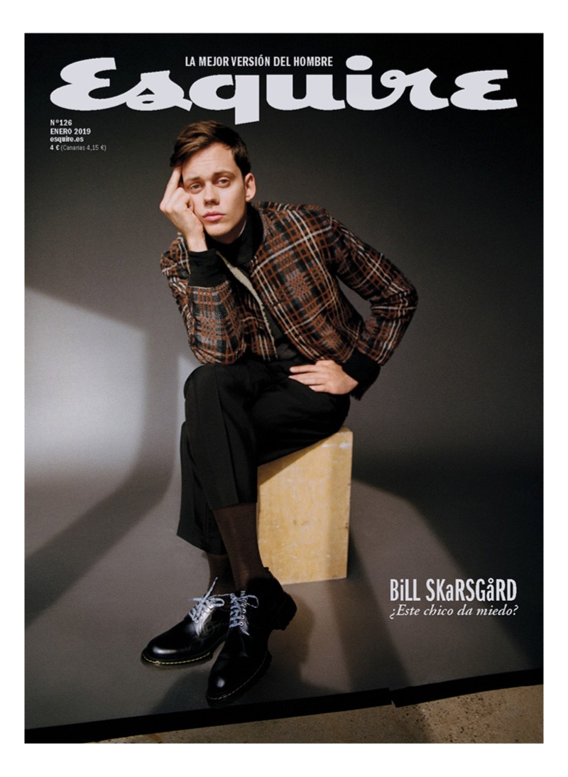 Bill Skarsgård covers the January 2019 issue of Esquire España.