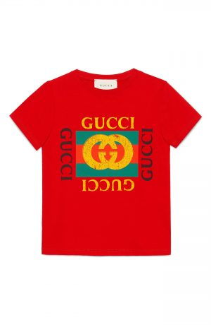 Boy's Gucci Logo Graphic T-Shirt, Size 8Y - Red