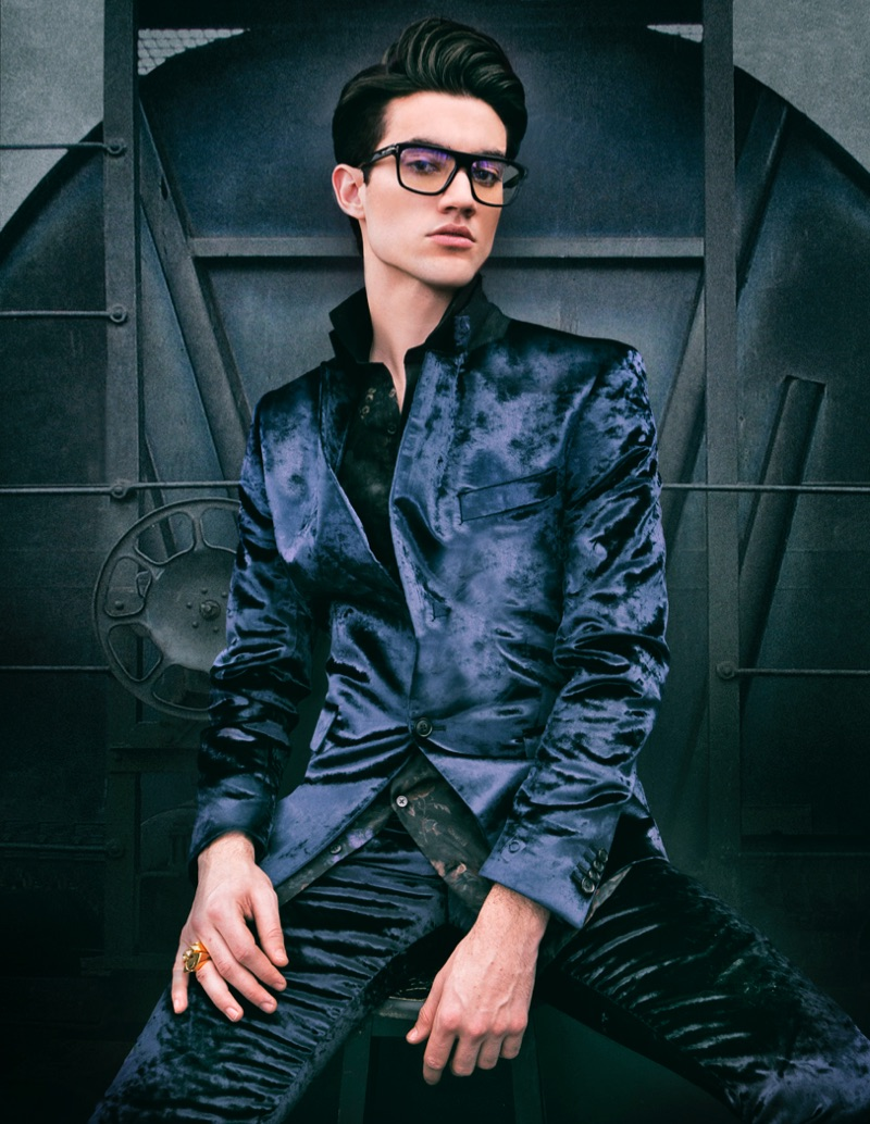Brad wears suit Paul Smith @ Simons, shirt LE 31, glasses Tom Ford, and ring Catharsis Toronto.