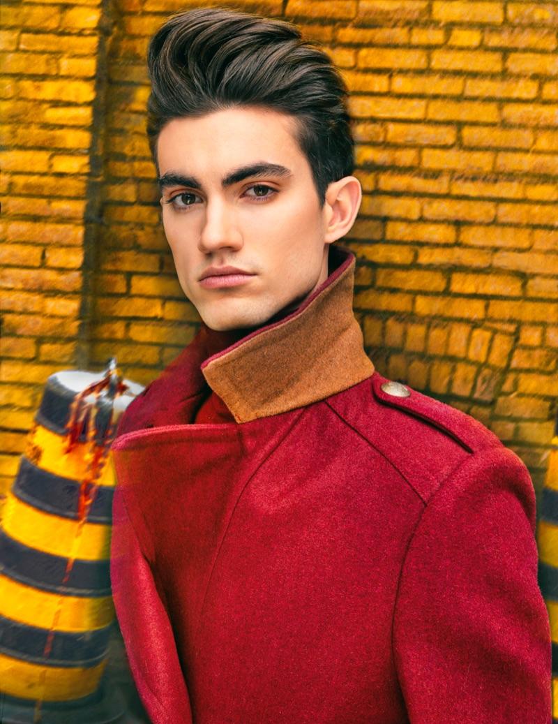 Brad wears coat Mayer Man.