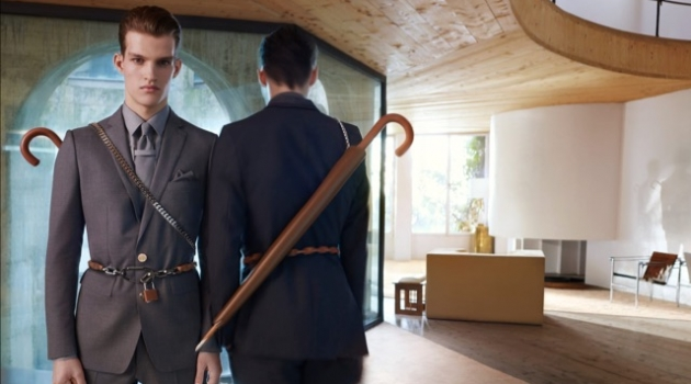 Models Matteo Ferri and Joe Plunkett front Burberry's spring-summer 2019 campaign.