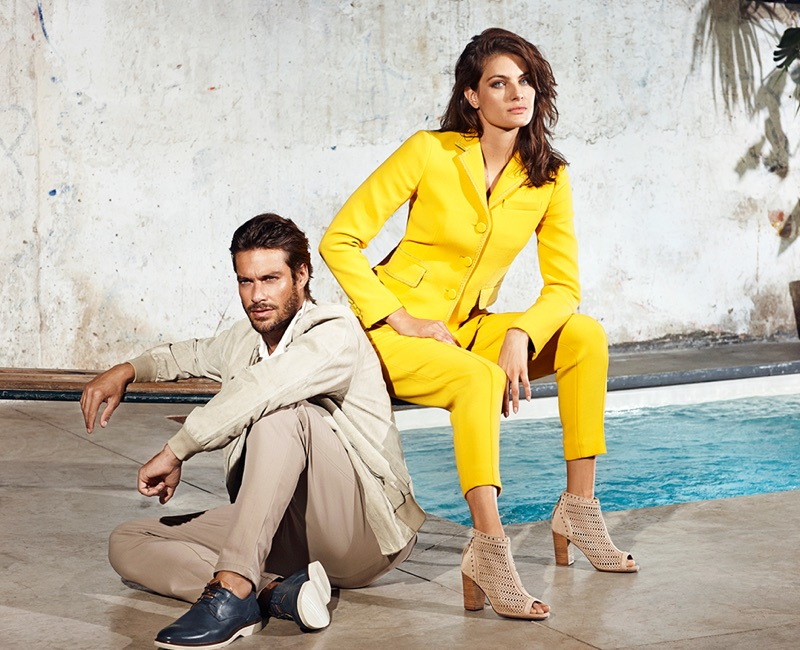 Carmela Shoes enlists Gonçalo Teixeira and Isabeli Fontana as the stars of its spring-summer 2019 campaign.