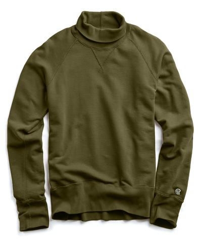 Champion Turtleneck Sweatshirt in Military Olive