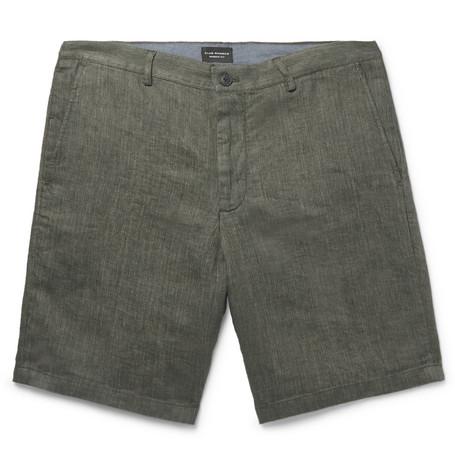 Club Monaco - Maddox Linen Shorts - Men - Green