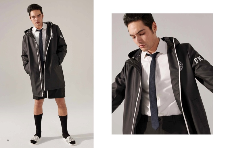 Levi Dylan stars in DKNY's spring-summer 2019 men's lookbook.