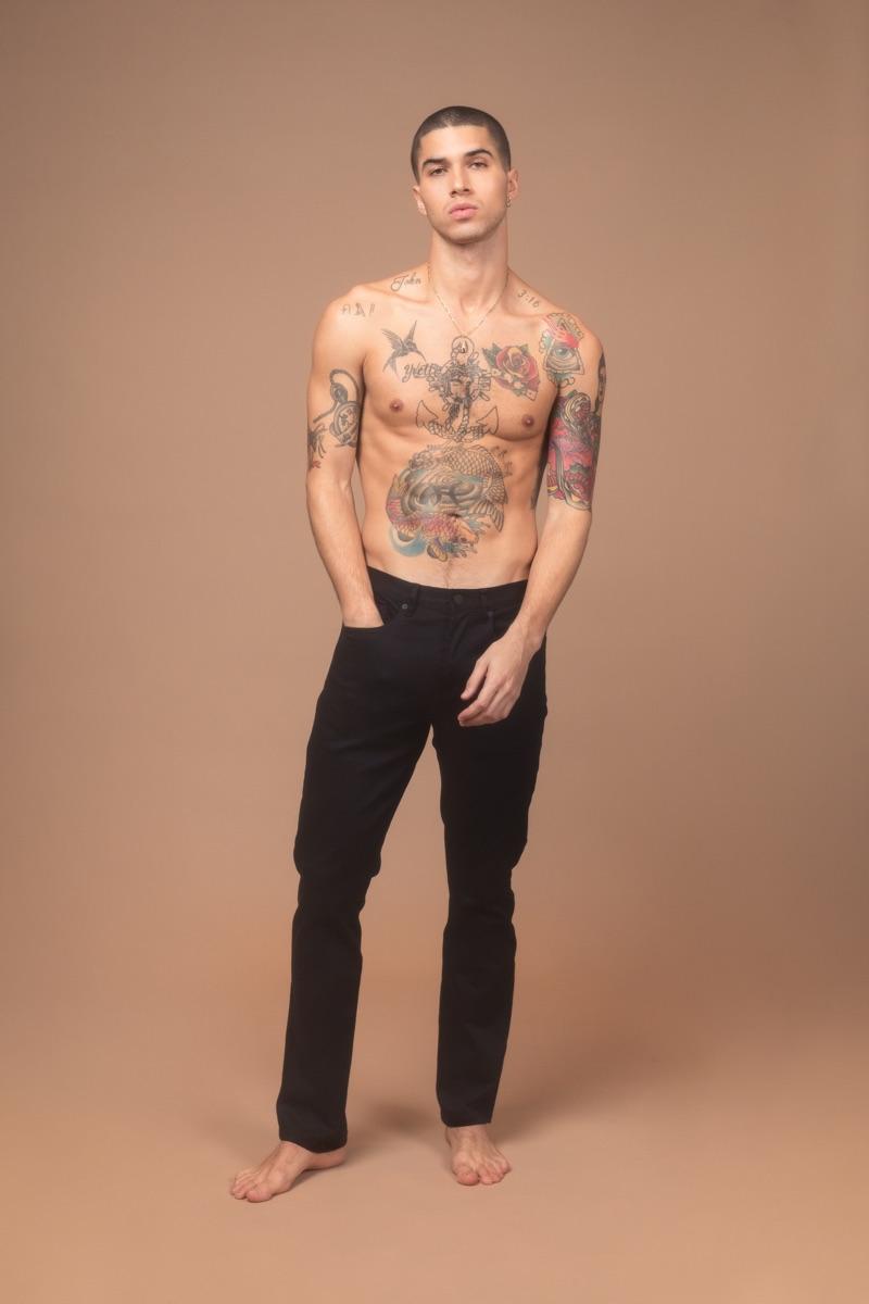 Daniel wears Blank NYC jeans.