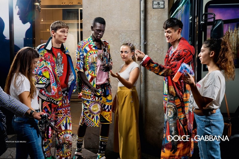 Alex Majoli photographs Ivan Sudati and Thiam for Dolce & Gabbana's spring-summer 2019 campaign.