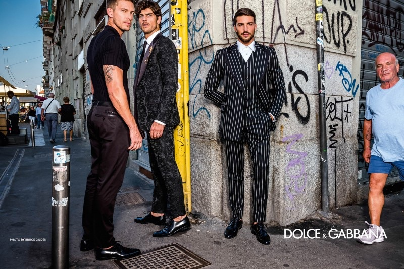 Dolce & Gabbana enlists Adam Senn, Evandro Soldati, and Mariano Di Vaio as the stars of its spring-summer 2019 campaign.