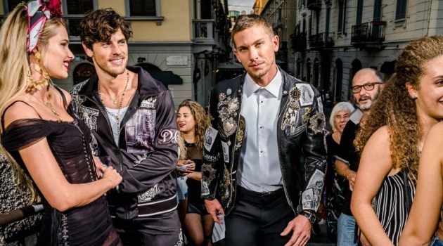 Evandro Soldati and Adam Senn star in Dolce & Gabbana's spring-summer 2019 campaign.