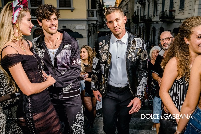 Evandro Soldati and Adam Senn star in Dolce & Gabbana's spring-summer 2019 campaign.