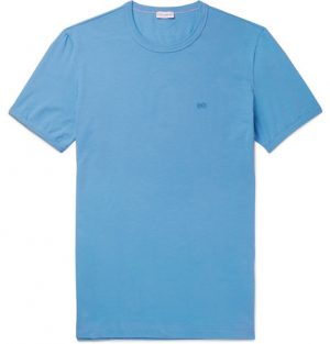 Dolce & Gabbana - Pima Stretch-Cotton Jersey T-Shirt - Men - Blue