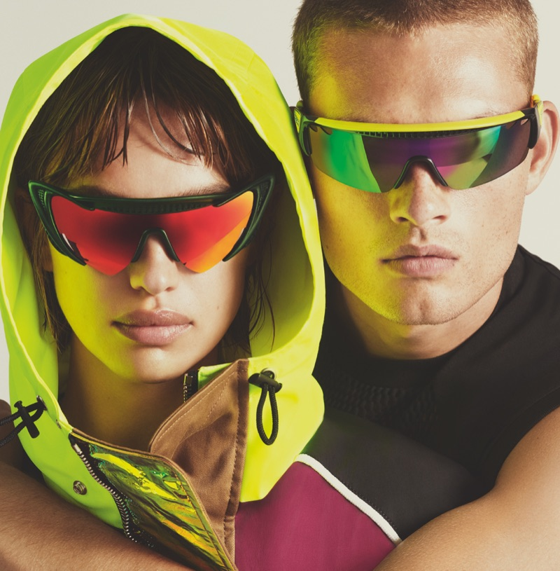 Irina Shayk and William Los front Dsquared2's spring-summer 2019 eyewear campaign.
