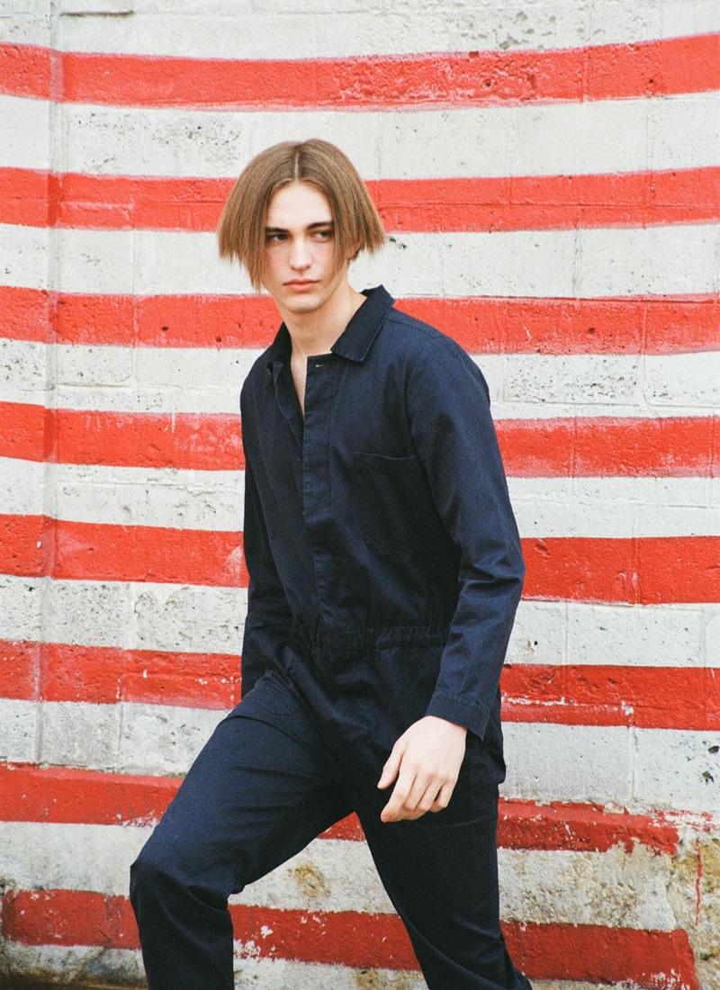 Thierry wears jumpsuit Le Mont St Michel.