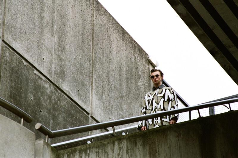 Thierry wears coat Hyun Mi Nielsen and sunglasses VIU Eyewear.