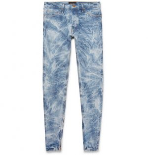 Fear of God - Skinny-Fit Distressed Selvedge Denim Jeans - Men - Blue