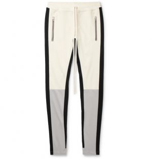Fear of God - Tapered Panelled Jersey Sweatpants - Men - Off-white