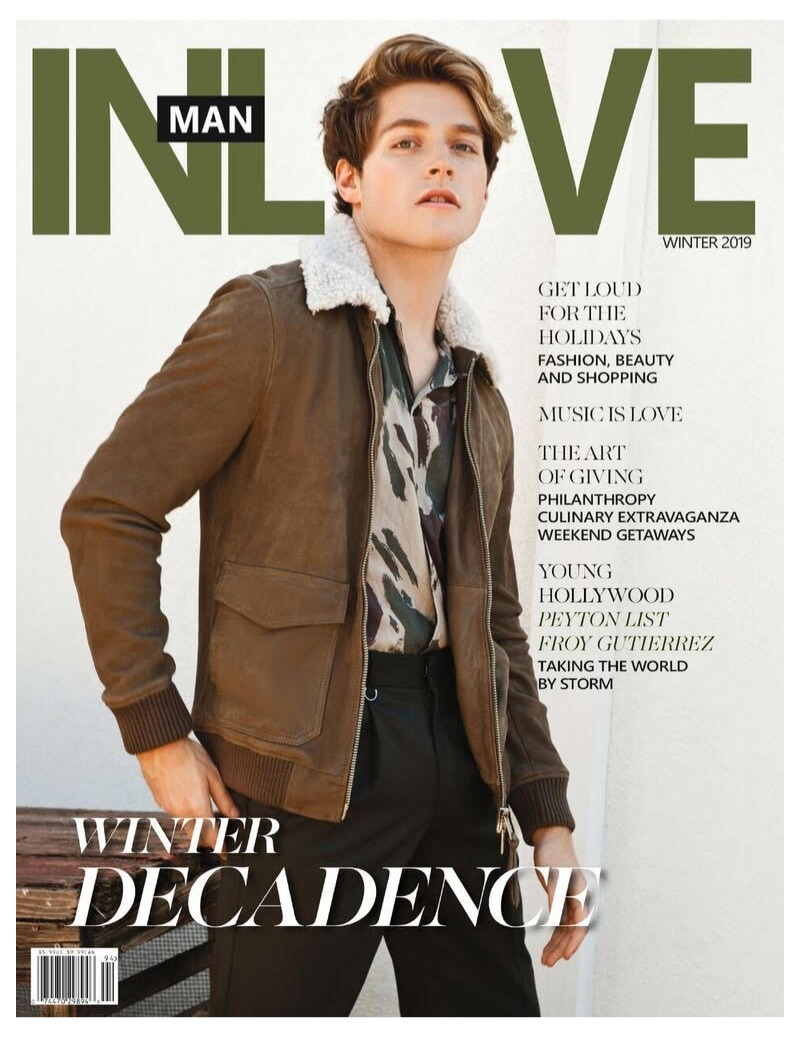 Froy Gutierrez covers the latest issue of InLove Man magazine.