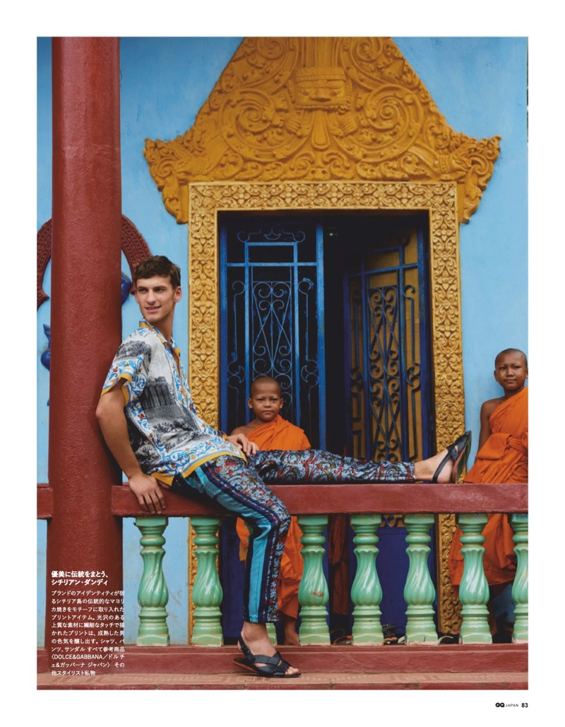 David Trulik & Zhang Wenhui Tackle Bold Colors for GQ Japan