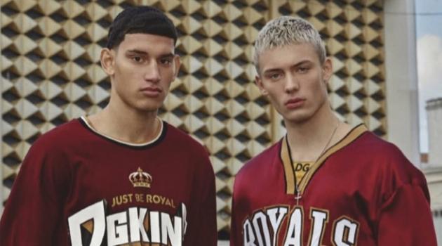 João Knorr & Alexis Chaparro Go Sporty in Dolce & Gabbana for GQ México