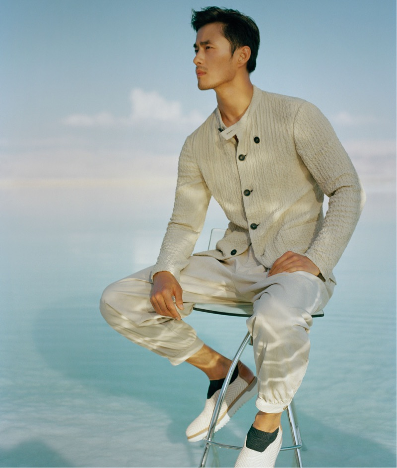 Zhao Lei reunites with Giorgio Armani for the brand's spring-summer 2019 campaign.
