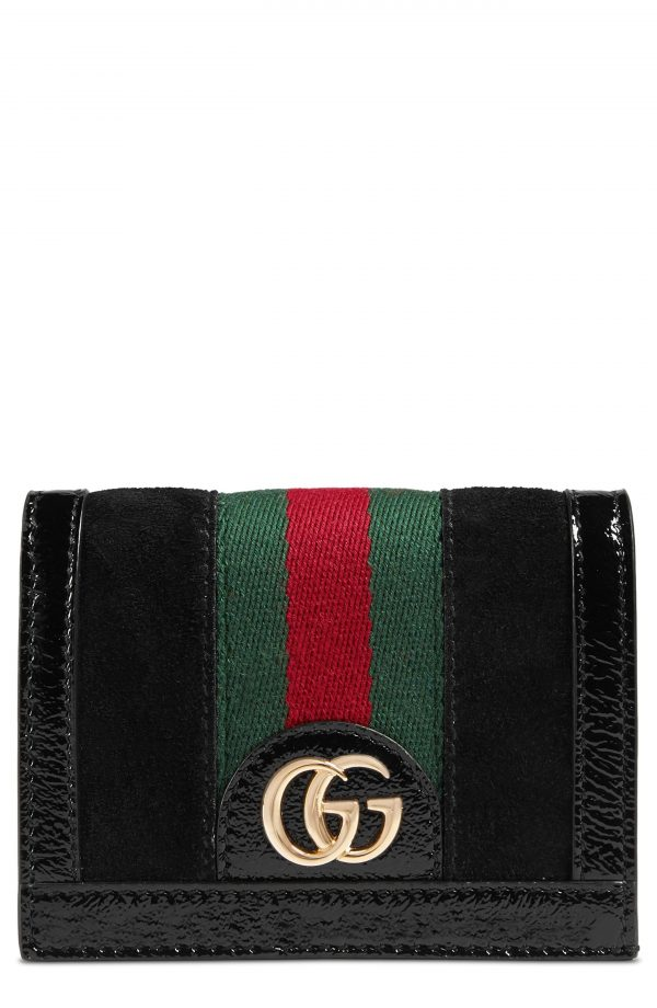 Gucci Ophidia Suede Card Case -