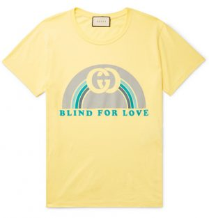 Gucci - Printed Cotton-Jersey T-shirt - Men - Yellow