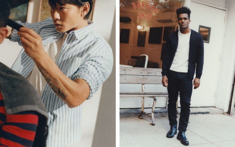 Chi Wong and Darryl Westly sport casual styles from H&M.