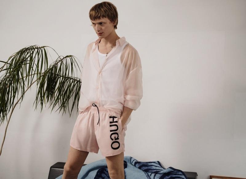 Jonas Glöer fronts HUGO's spring-summer 2019 men's campaign.