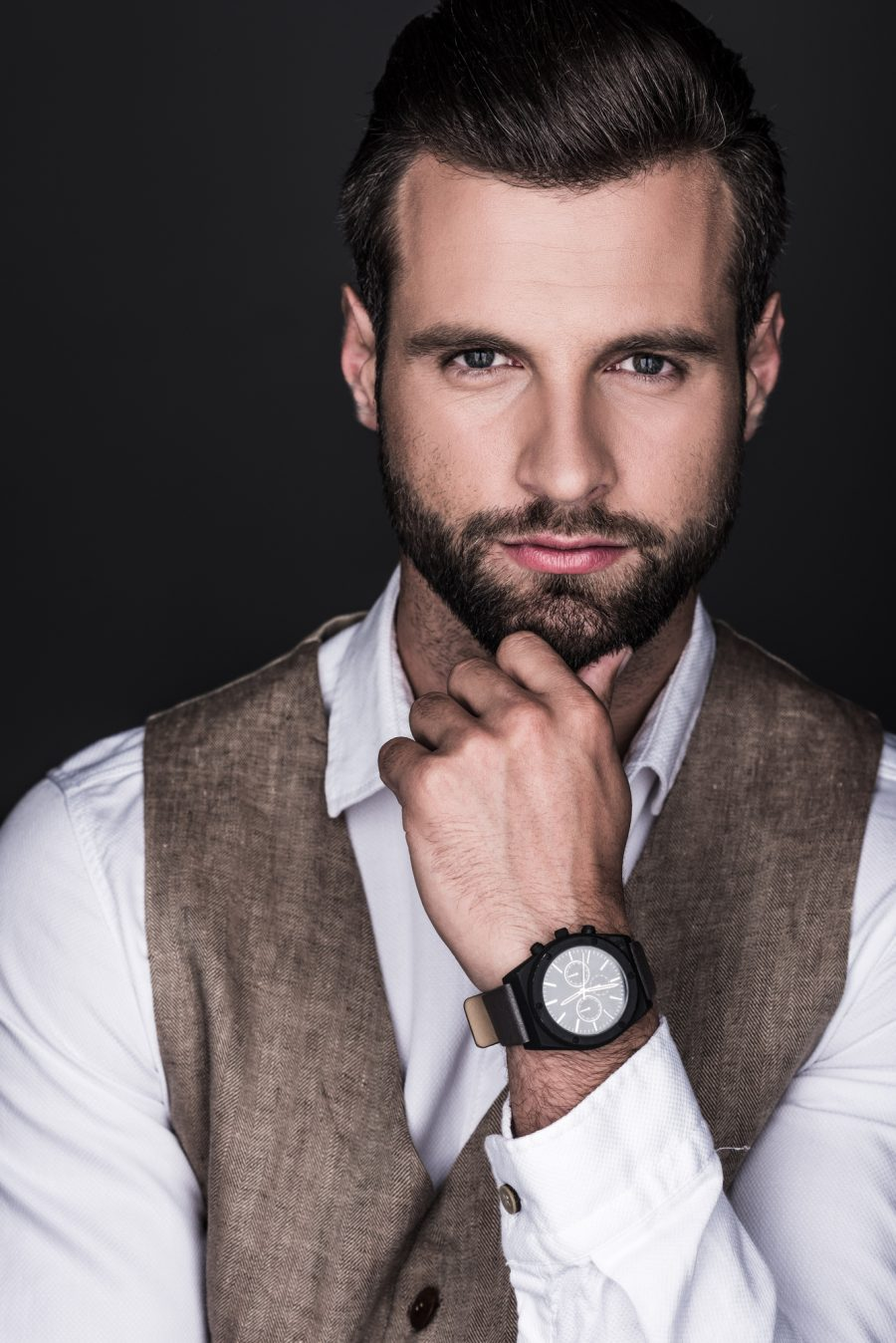 Handsome Male Model Watch