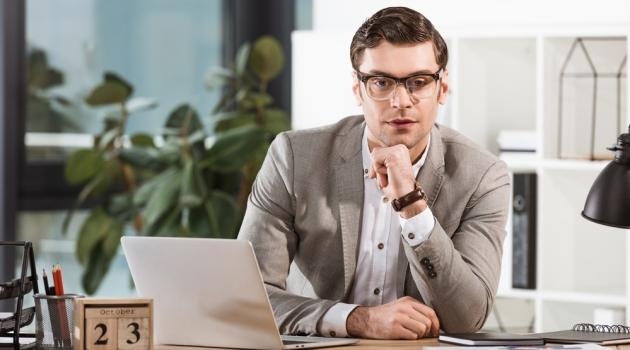 Handsome Stylish Businessman in Glasses