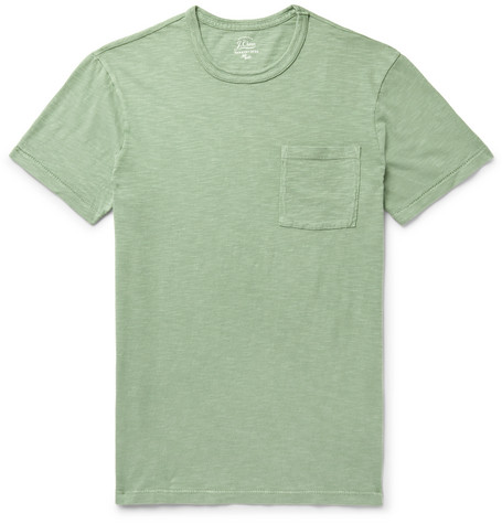 J.Crew - Garment-Dyed Slub Cotton-Jersey T-Shirt - Men - Light green