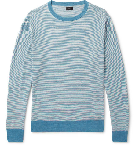 J.Crew - Striped Knitted Sweater - Men - Blue