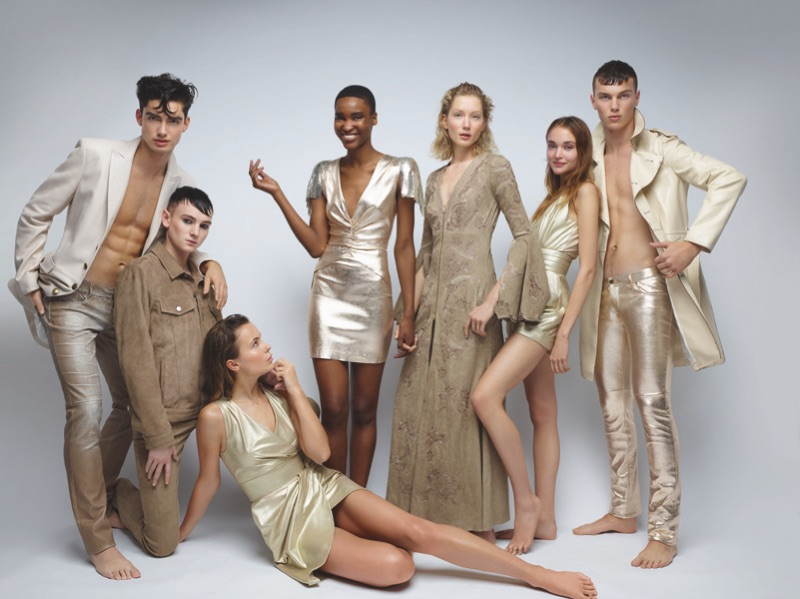 A gold theme is front and center for Jitrois' spring-summer 2019 campaign.