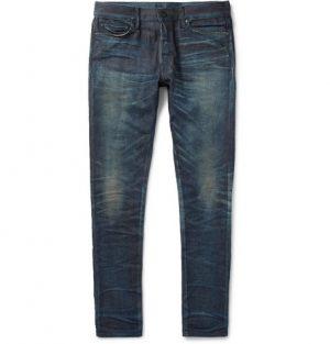 John Elliott - The Cast 2 Skinny-Fit Distressed Stretch-Denim Jeans - Men - Blue