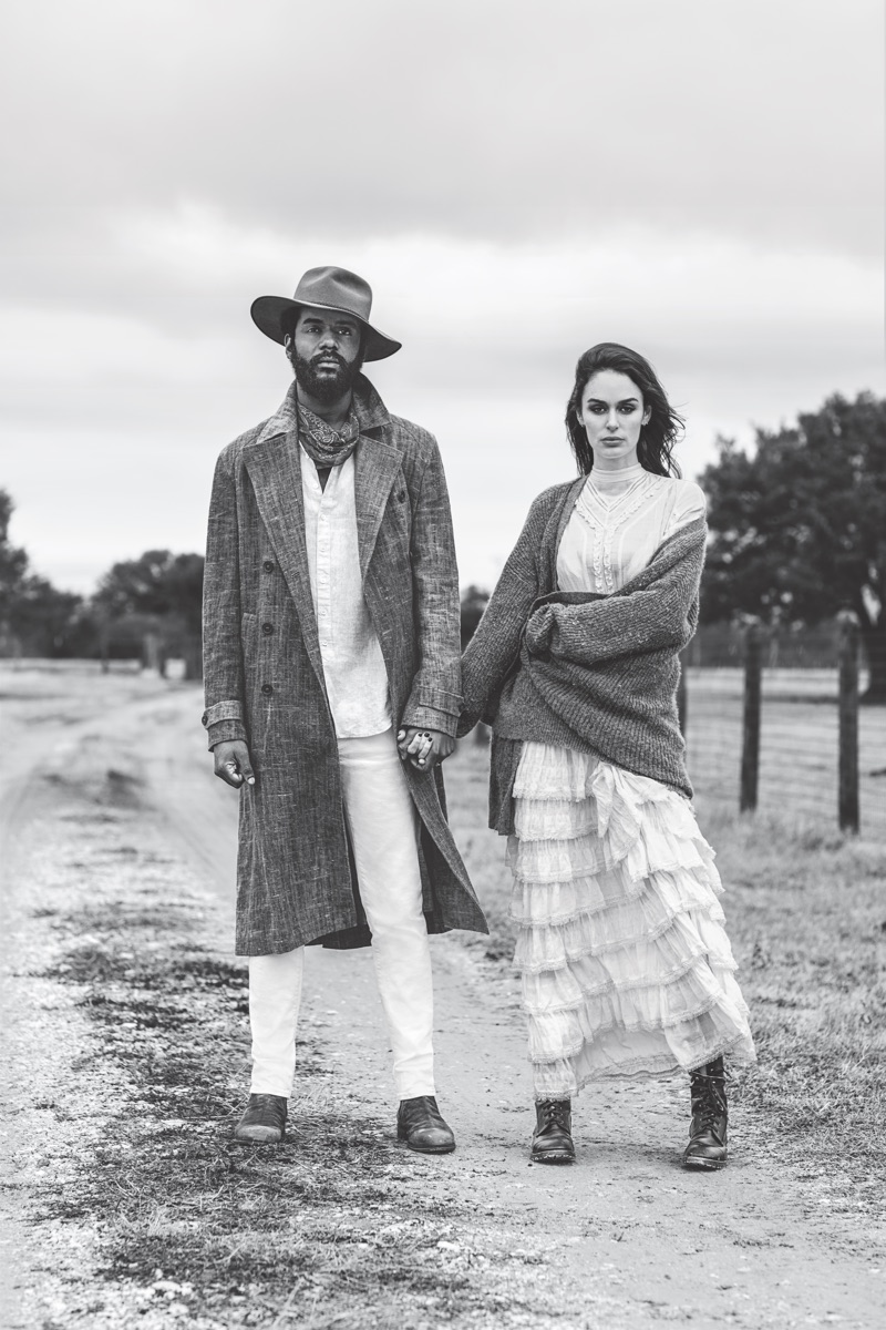 Starring in John Varvatos' spring-summer 2019 campaign, Gary Clark Jr. joins his wife Nicole Trunfio.